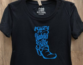 3dc4d621cba Give Diabetes the Boot t-shirt.
