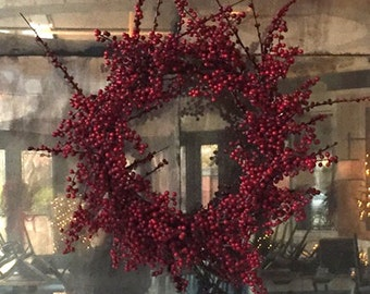 Artificial Berry Branch Wreath