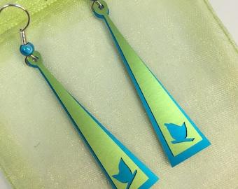 Bird Silhouette Triangle earrings