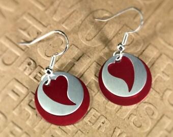 Red Heart Silhouette earrings