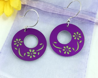 Flower Silhouette earrings