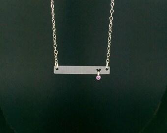 Petite Heart Silhouette Necklace