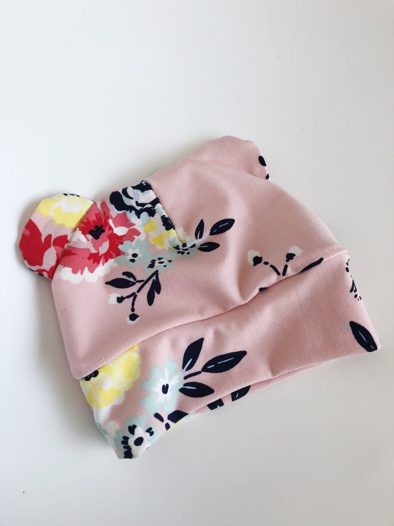 Floral Baby hat~soft~ girl hat baby beanie baby girl hat newborn bear hat baby bear hat hipster baby hat cotton baby hat