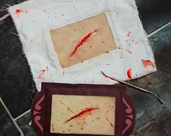 Latex physician fake wound/ surgery patch - Ready To Ship