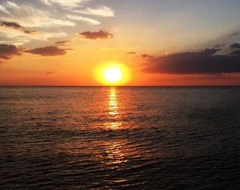 11x14 Photo Print of Sunset at Beach