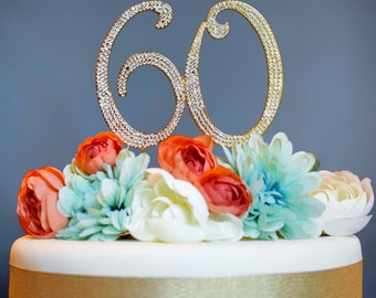 60th Birthday Gift For Women GOLD Gifts Mom Decoration 60 Decorations Sixty Number Anniversary