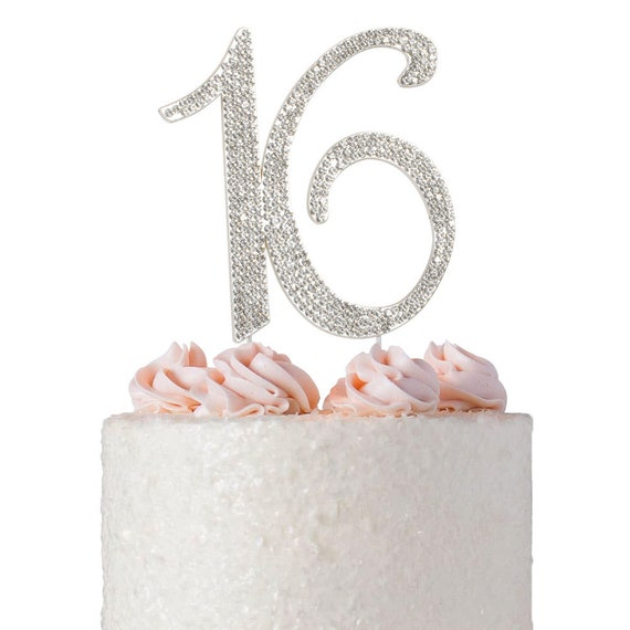 16 Cake Topper 16th Birthday Party Decoration Ideas Sweet