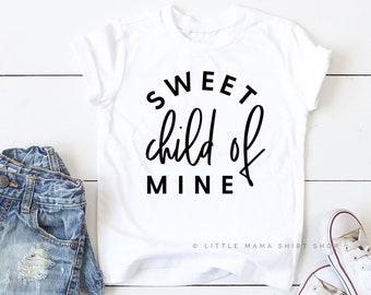 0c60873fc Sweet Child of Mine © | Little Girls Shirts | Spring Shirts | Unisex Shirts  for Kids | Graphic Tees Kids | Flower Shirt | Baby Girl Shirts