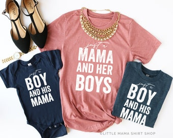 77a4a37d8d Just a Mama and Her Boys © MAUVE & NAVY | Mommy and Me Outfits | Boy Mom  Shirt | Boy Mommy and Me | Mama's Boy | Boy Mama | Gift for Mom