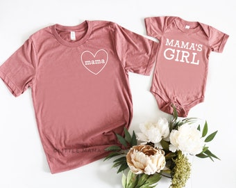 bafb3cd3 Girl Mommy and Me Shirts | Mama's Girl © THE ORIGINAL | Girl Mom Shirt |  Christmas Gift | Girl Mom and Me Matching Shirts