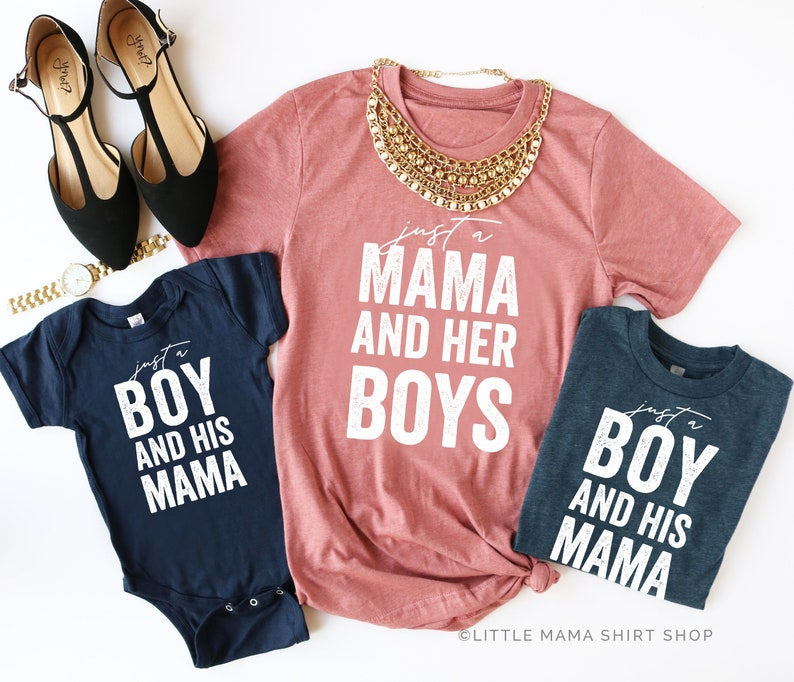 f871180a3f67 Just a Mama and Her Boys © MAUVE & NAVY Mommy and Me Outfits | Etsy