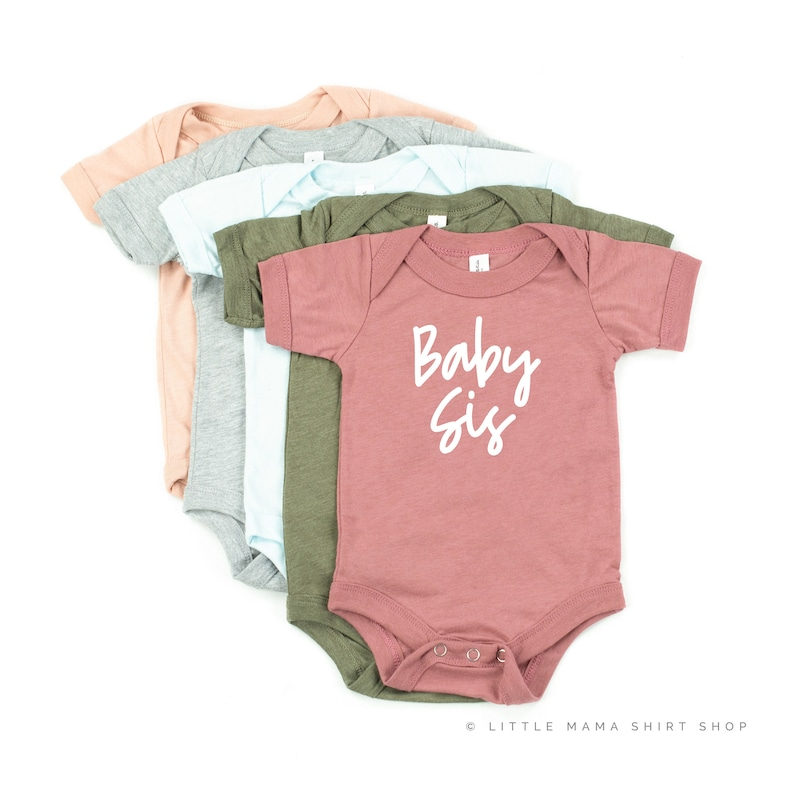 Little Sister Shirt Kids Graphic Tee Big Sister  Little Sister Pregnancy Announcement Sibling Shirts Baby Brother Baby Sis \u00a9