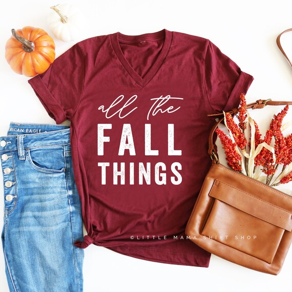 b91c3ac14 All the Fall Things © Fall Shirts for Women Fall Graphic | Etsy