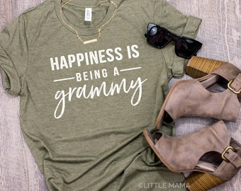 Happiness is Being A Grammy ©  | Grandma Shirt | Shirt for Grammy | Women's T Shirt | Trendy Tees | Grammy Gift | Granny, Nana, Grammy