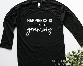 Happiness is Being a Grammy © | Grammy Shirt | Shirt for Grammy | Women's T Shirt | Trendy Tees | Gift for Grammy | Grammy Gift