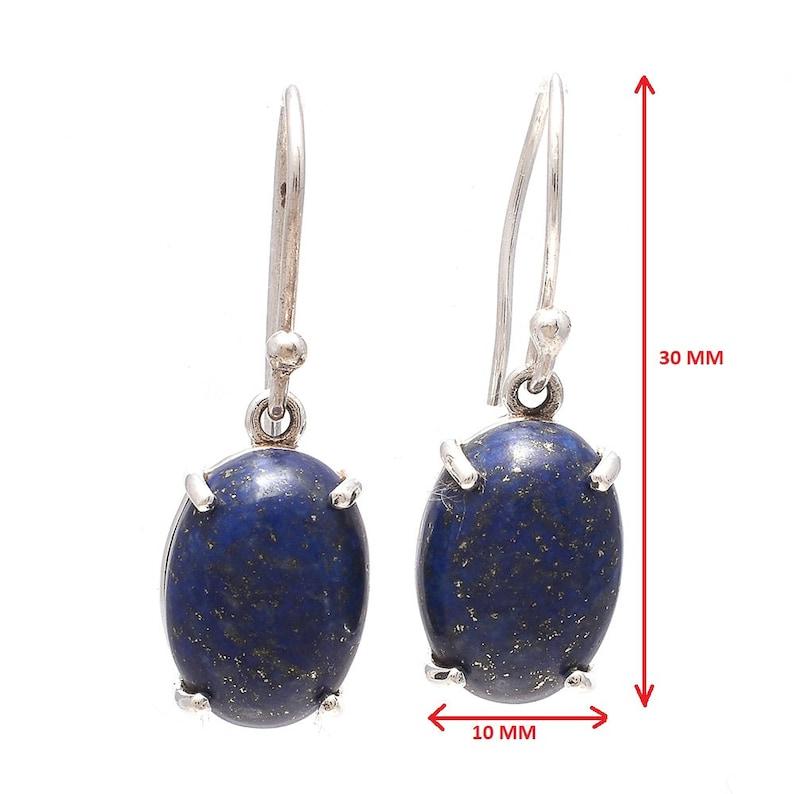 Lapis Lazuli Earring Natural Gemstone Lapis Lazuli  925 Sterling Silver Earring  Handmade Earring Solid Silver Earring Jewelry
