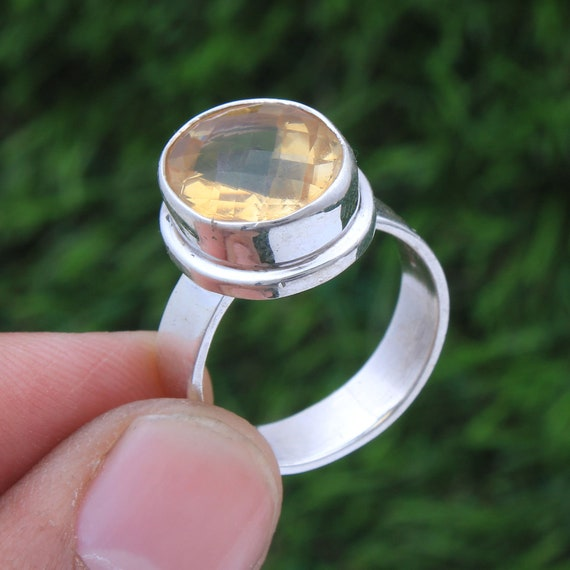 Citrine Silver Ring,925 Solid Ring,Sterling Silver Ring,Handmade Jewelry,Dainty Citrine Ring,Ring For Women,Engagement Ring,Wedding Ring