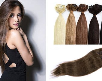 """21"""" Clip In Extensions 100% Remy Human Hair"""