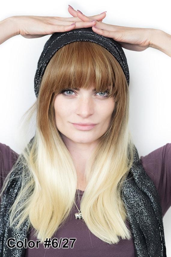 Bang Clip On Extensions 100 Human Hair Etsy