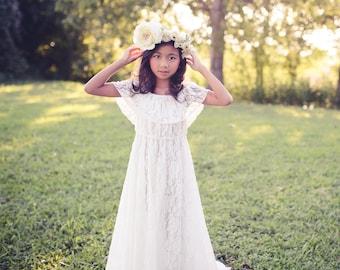 3af33c350a7 Boho Flower Girl Dress