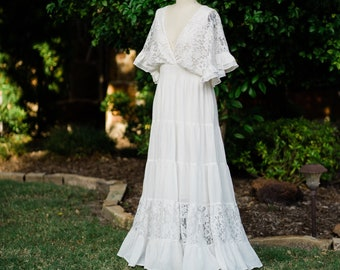 Boho Wedding Dress Plus Size Etsy,Maxi Dress Wedding Guest Outfit Ideas 2020