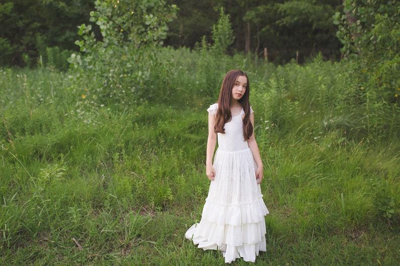 4b6a9e4c0 Girl Toddler Bohemian Lace Maxi Dress Boho Flower Girl