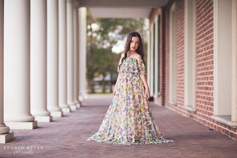 94b5a0fc8df Girls Tween Birthday Butterfly Photography Photoshoot Dress