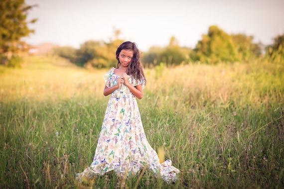 eb9861422c1 Boho Flower Girl Dress Butterfly Dress Girls Lace Dress