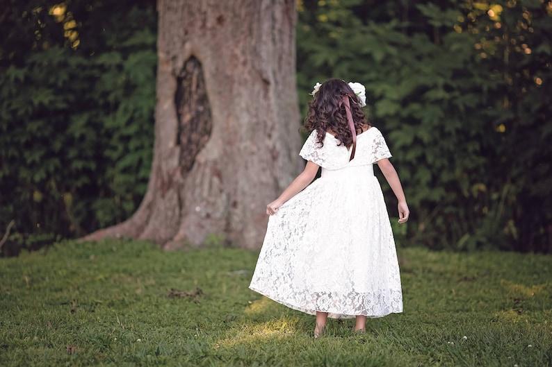 ad294d713 Rustic Flower Girl Dress First Communion Dress Boho Flower