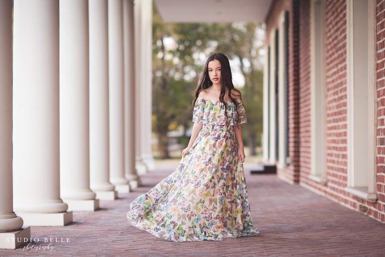 7847bd5503a Girls Boho Lace Butterfly Dress Boho Flower Girl Dress Lace