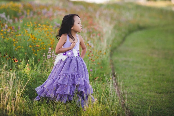 Flower Girl Dress Purple Maxi