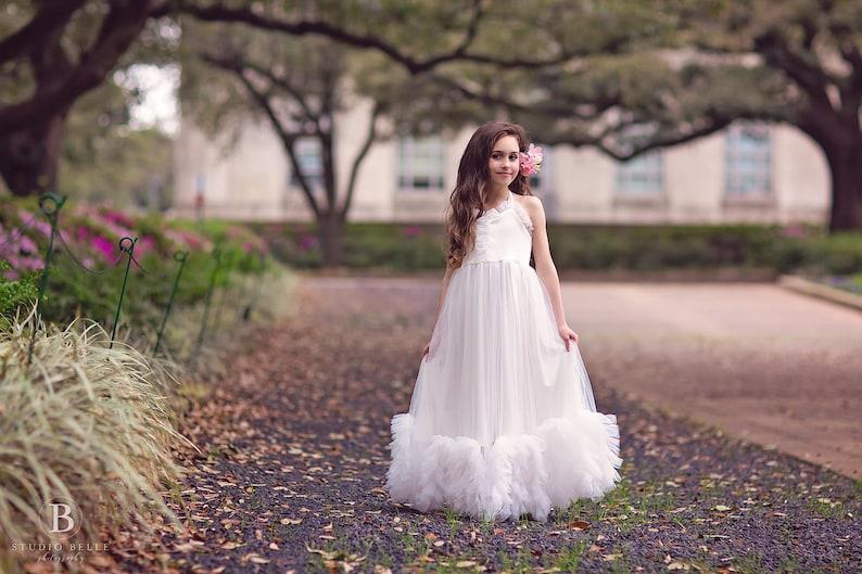 7bc1ffe95 First Communion Dress Boho Flower Girl Dress Maxi Dress