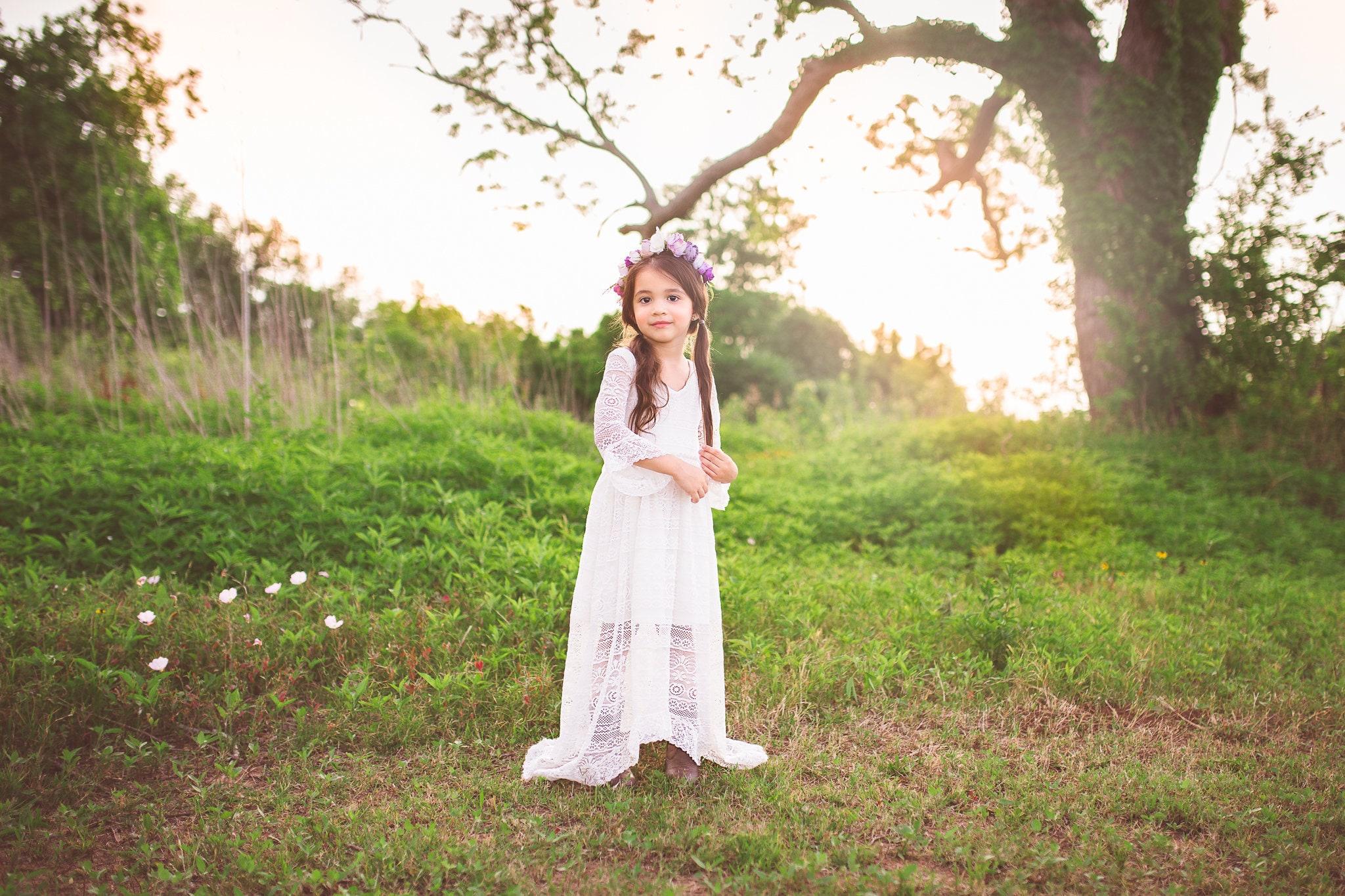 f1f286ee066b Rustic Flower Girl Lace Dress for Boho Wedding Bohemian White   Etsy