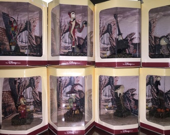 Disney Tiny Kingdom NIGHTMARE BEFORE CHRISTMAS complete set of 11 Rare Collectable