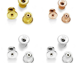 Gold 14K Plated Barrel Earnuts Earring Backs Stoppers Findings 50 pcs