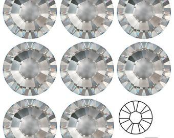 24 Preciosa Cristal Oval Facetado Flatbacks en color 18x13mm efectos especiales..