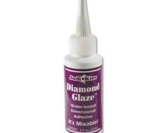 2 OZ Diamond Glaze Water Based Dimensional Adhesive Jewellery Craft Glue