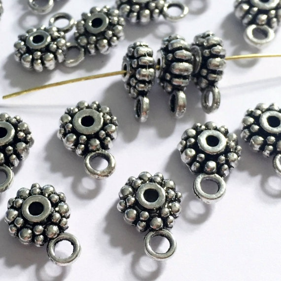 30 Alloy Beads Tibetan Silver Spacer Beads for Bracelet Jewelry Making Craft