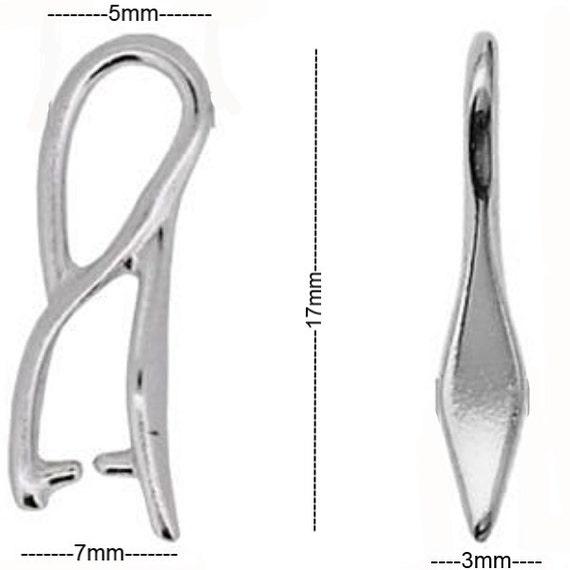 Sterling Silver Pinch Bail 17mm Pendant Bail Findings PK1 PK5