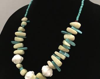 Gemstone & Ceramic Beaded Necklace