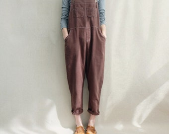 b2b3d401d5a7 Women Leisure Cotton Jumpsuits Linen Overalls