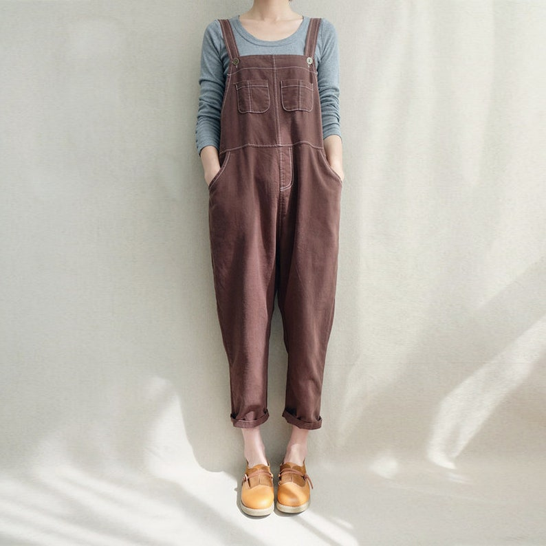26d060ed1b4 Women Leisure Cotton Jumpsuits Linen Overalls Spring Clothing