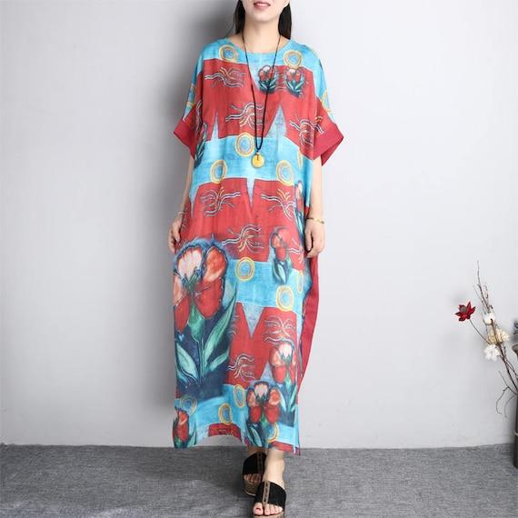 Women Comfortable Summer Dress Pattern Maxi Dress Asymmetrical | Etsy