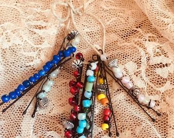 Beaded Hair Pins / Beaded Bobby Pins / Hair Accessories