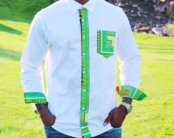 Dashiki Print Long Sleeve shirt