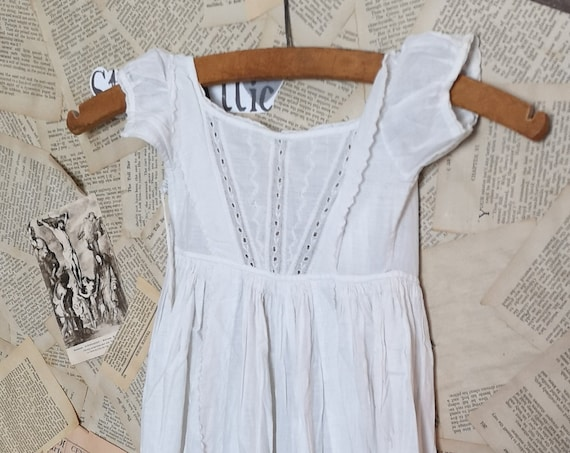 Victorian christening gown, broderie anglaise, antique baby dress