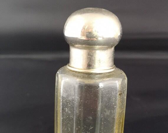 Antique aftershave bottle, scent bottle, Edwardian