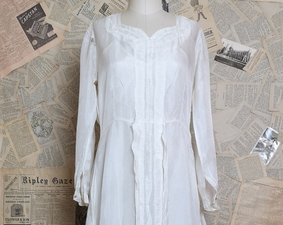 Vintage 1930's wedding dress, two piece with slip