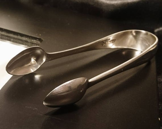 Antique silver plated sugar tongs, sugar nips, silver plated sugar bows