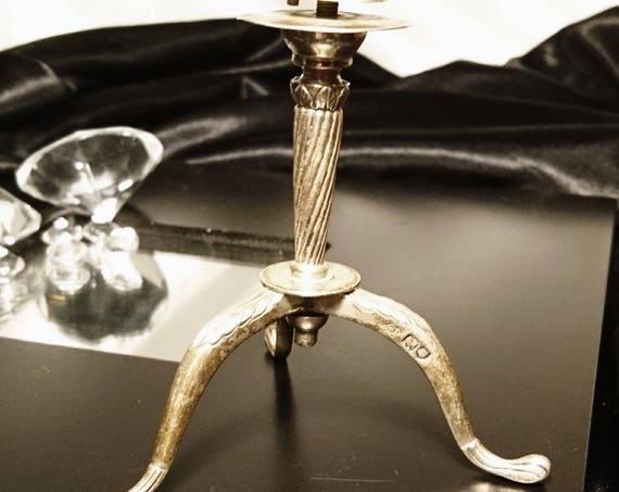 Antique sterling silver tripod stand